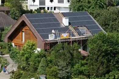 Erste Photovoltaik-Anlage in Böbikon eingeschaltet.